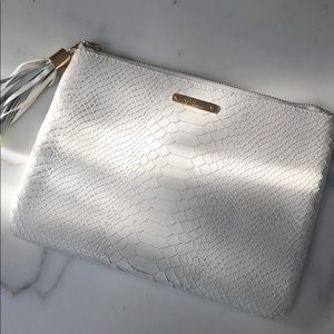 Gigi New York Embossed Leather Pouch